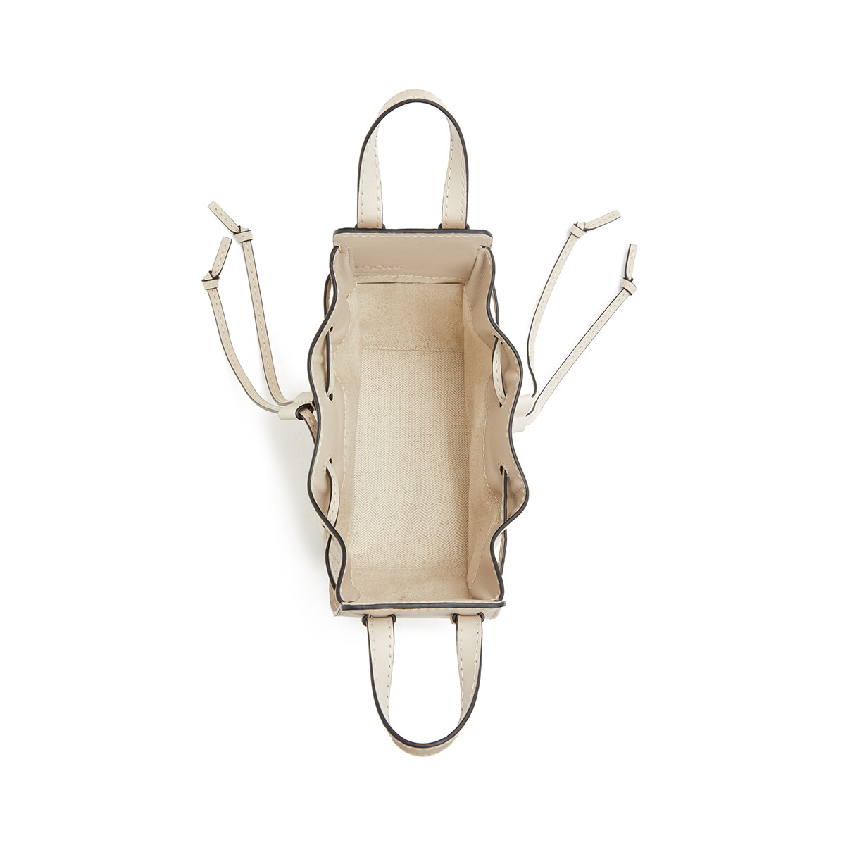 LOEWE Hammock Drawstring Mini Bag Light Oat front