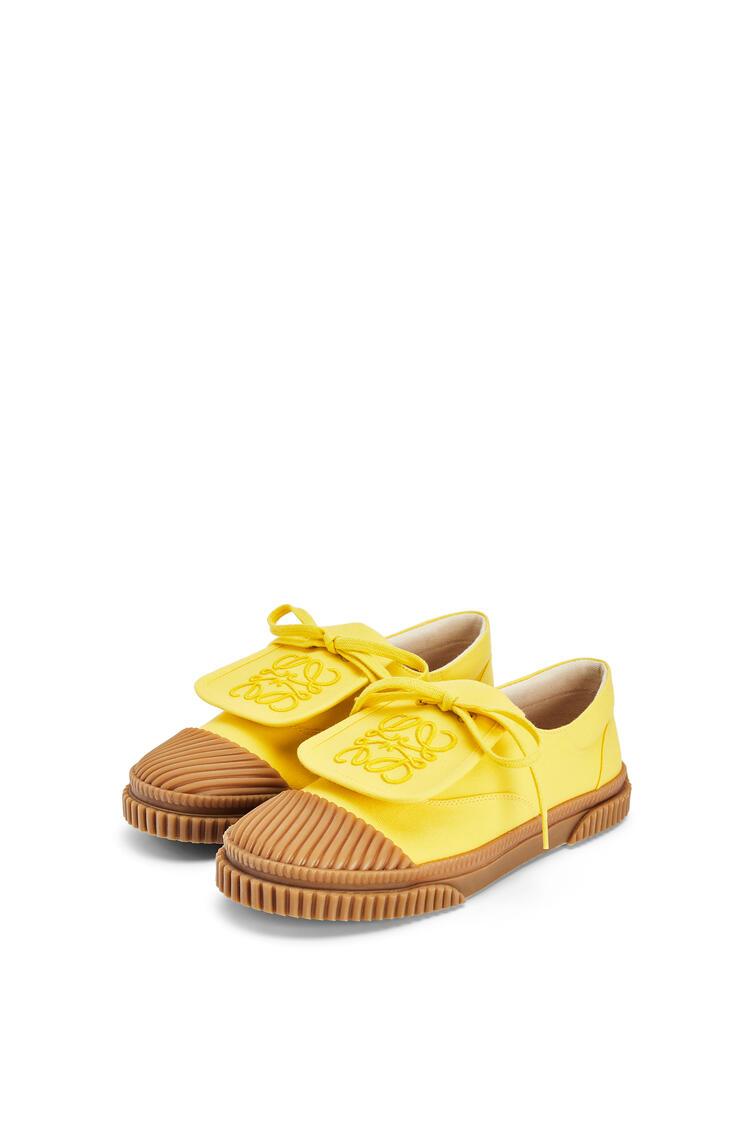 LOEWE Anagram flap sneaker in canvas Yellow pdp_rd