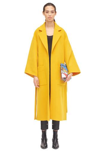 LOEWE Oversize Belted Coat Amarillo front