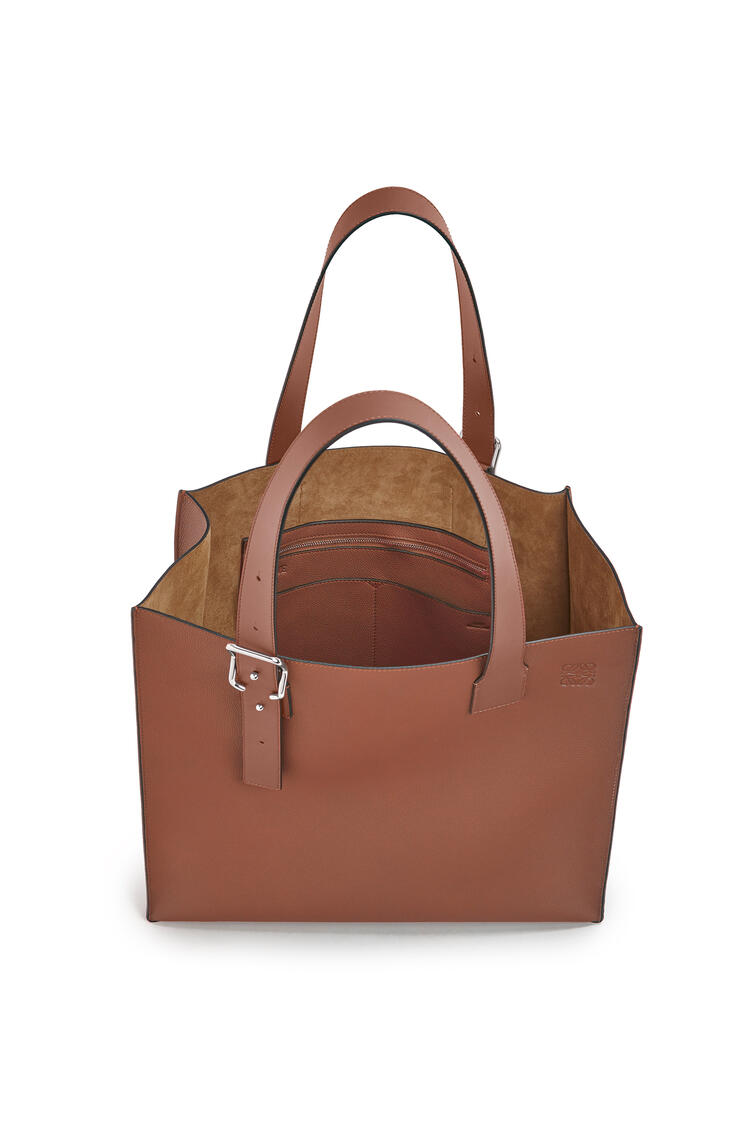 LOEWE Buckle tote bag in soft grained calfskin Cognac pdp_rd