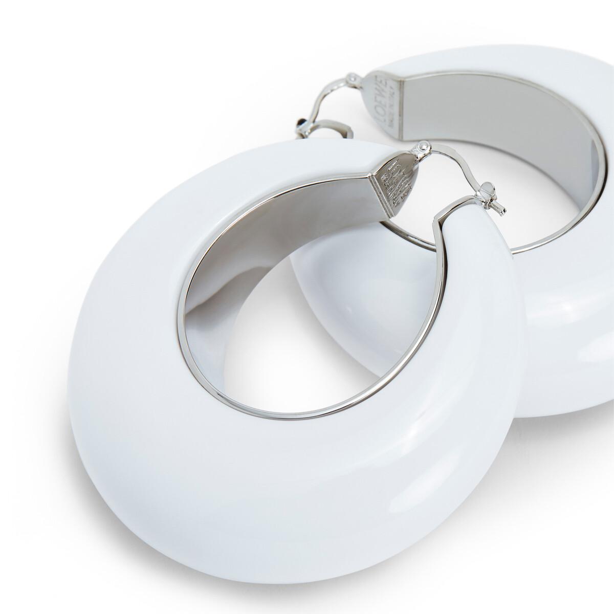 LOEWE Pendientes Aro Blanco front