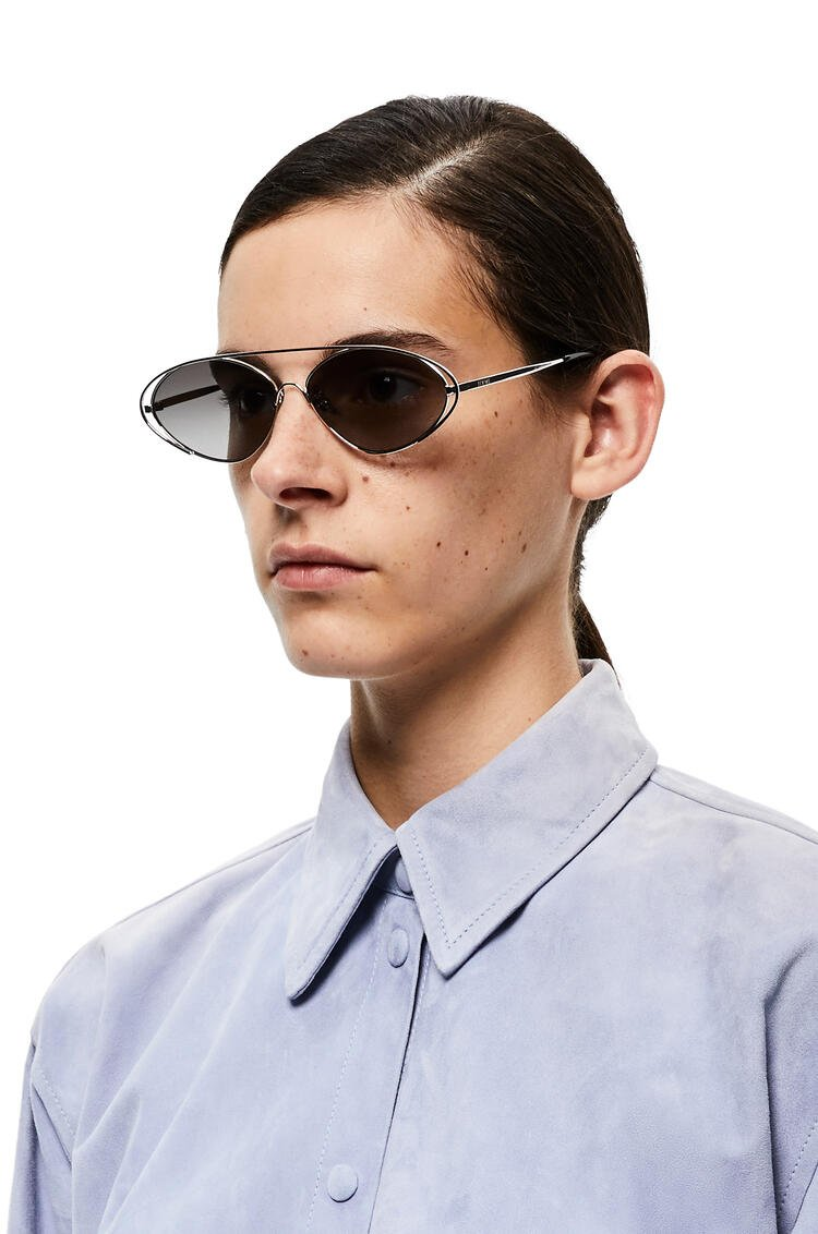 LOEWE Metal oval sunglasses Anthracite pdp_rd