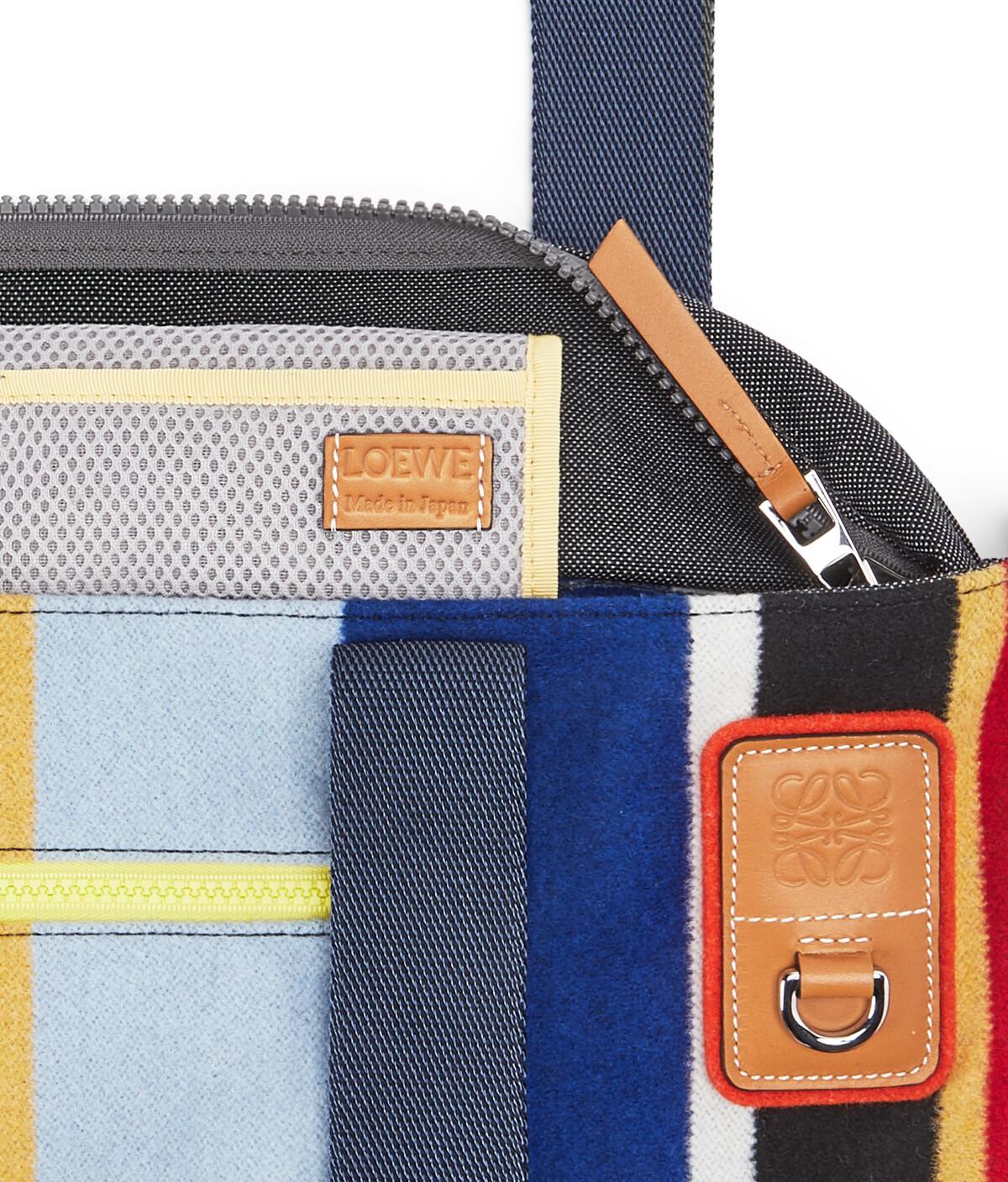 LOEWE Eye/Loewe/Nature Tote Stripes Bag Multicolor front