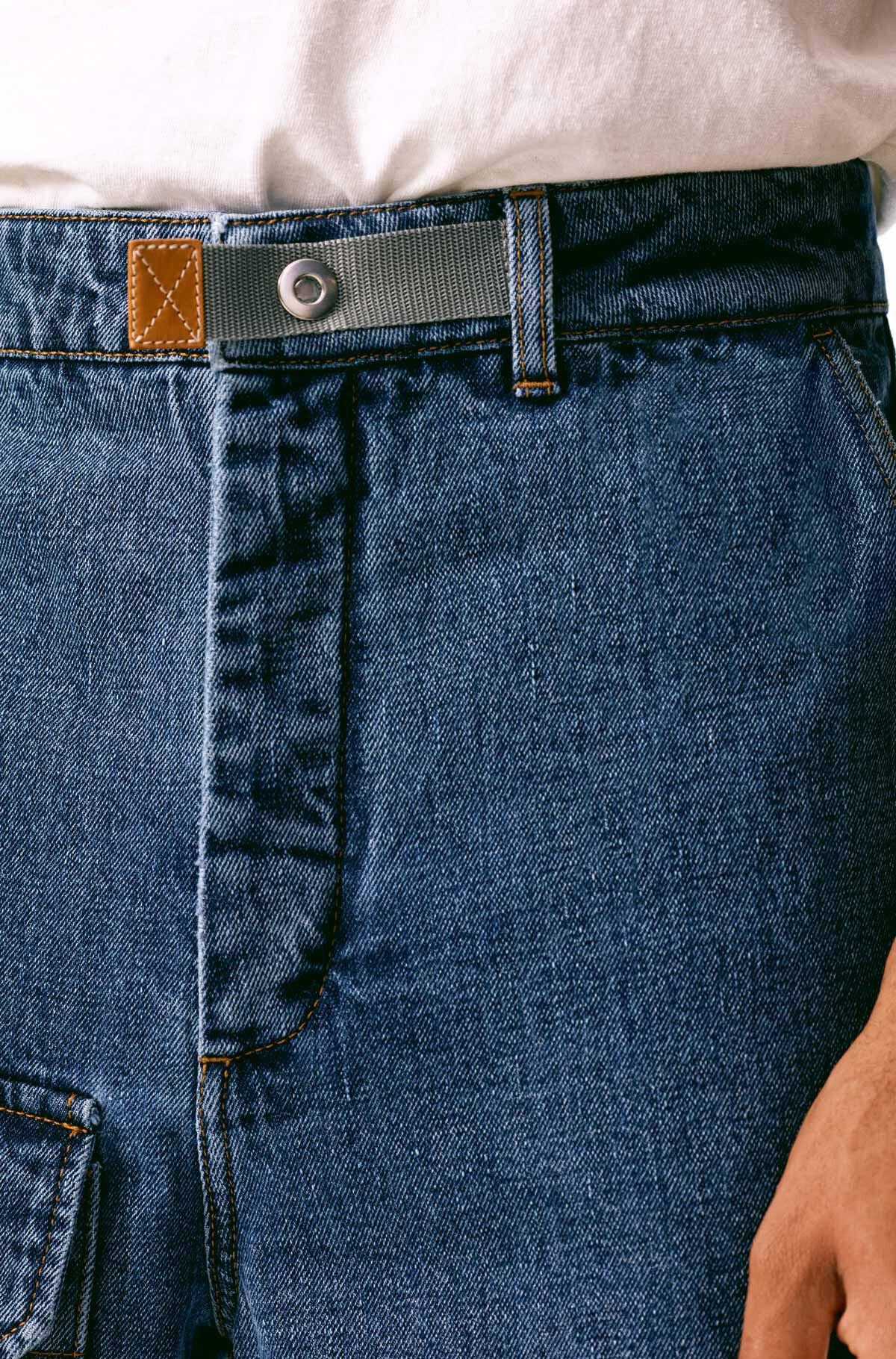 LOEWE Cargo Jeans Indigo front