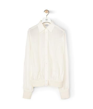LOEWE Rib Cuff Blouse White front