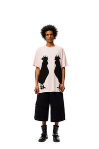 LOEWE Rooster oversize T-shirt in cotton Baby Pink pdp_rd