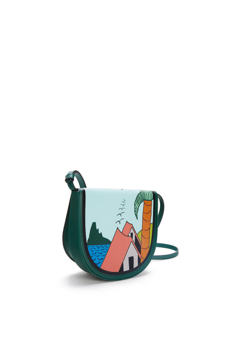 LOEWE La Palme Heel bag in soft calfskin Dark Forest/Multicolor pdp_rd