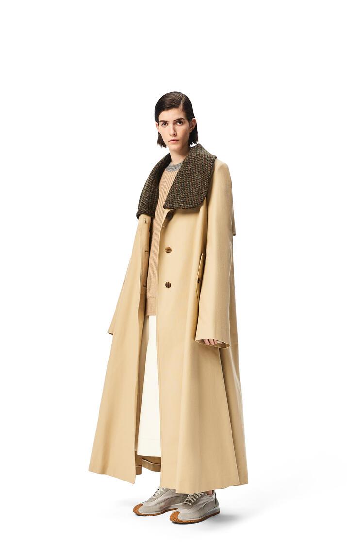 LOEWE Belted coat in cotton Beige pdp_rd