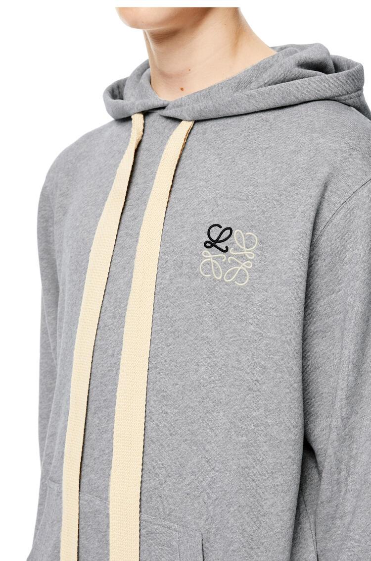 LOEWE Anagram hoodie in cotton Grey Melange pdp_rd