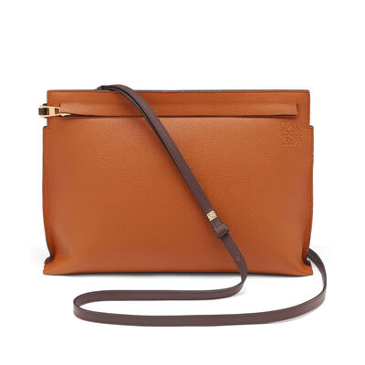 LOEWE T Pouch Bag Ginger/Rouge front