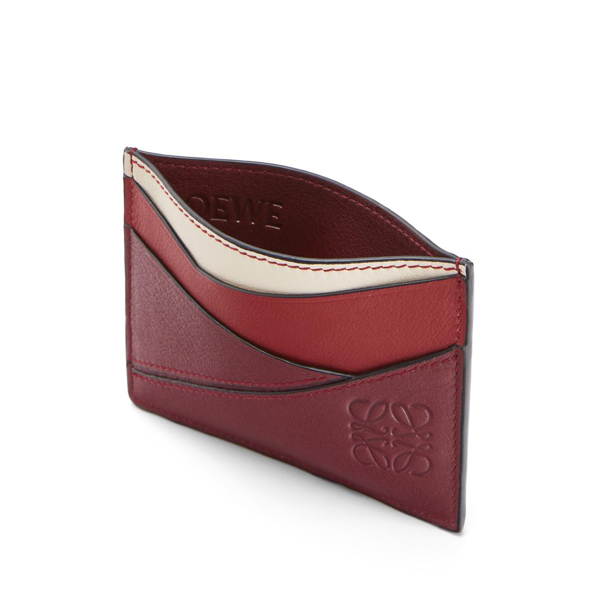 LOEWE パズル プレーン カードホルダー Wine/Garnet front