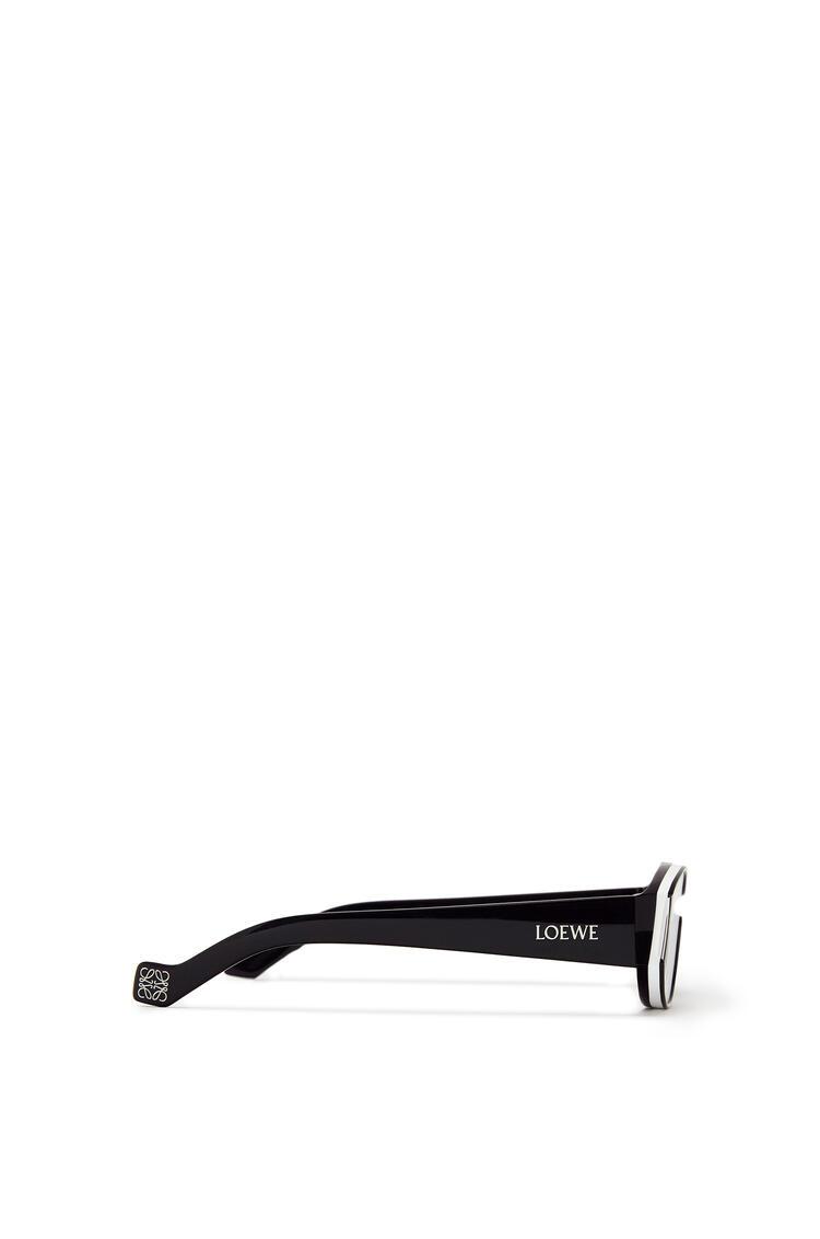 LOEWE Small sunglasses in acetate Black/White pdp_rd