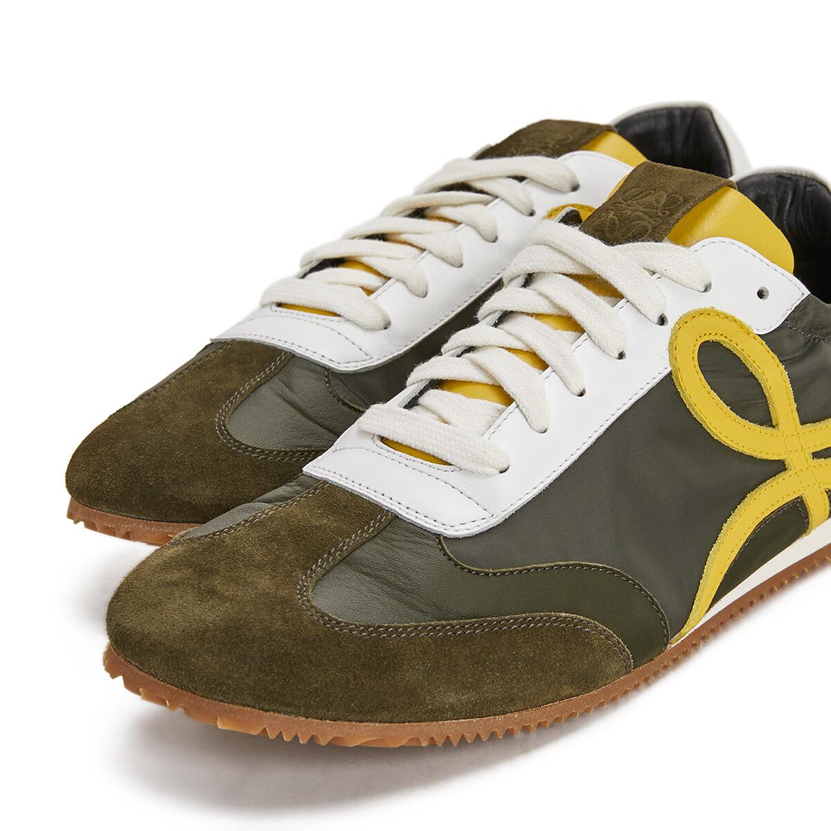 LOEWE Ballet Runner Khaki Green/Yellow front