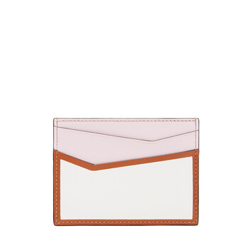 LOEWE Puzzle Plain Cardholder Icy Pink/Soft White front