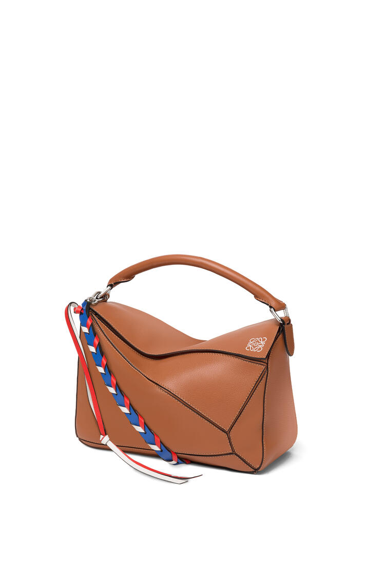 LOEWE Thin Braided Strap In Classic Calfskin Multicolor pdp_rd