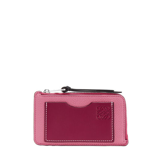 LOEWE Coin/Card Holder Large Wild Rose/Raspberry all