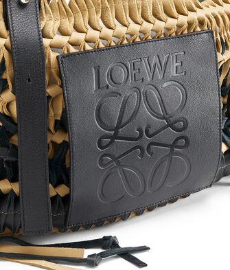 LOEWE Woven Tote Bag 金色/黑色 front