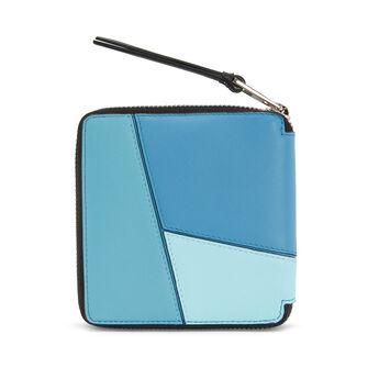 LOEWE Puzzle Square Zip Wallet blue multitone front