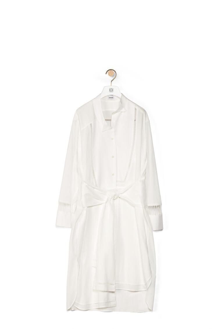 LOEWE Asymmetric jour echelle shirtdress in cotton White pdp_rd