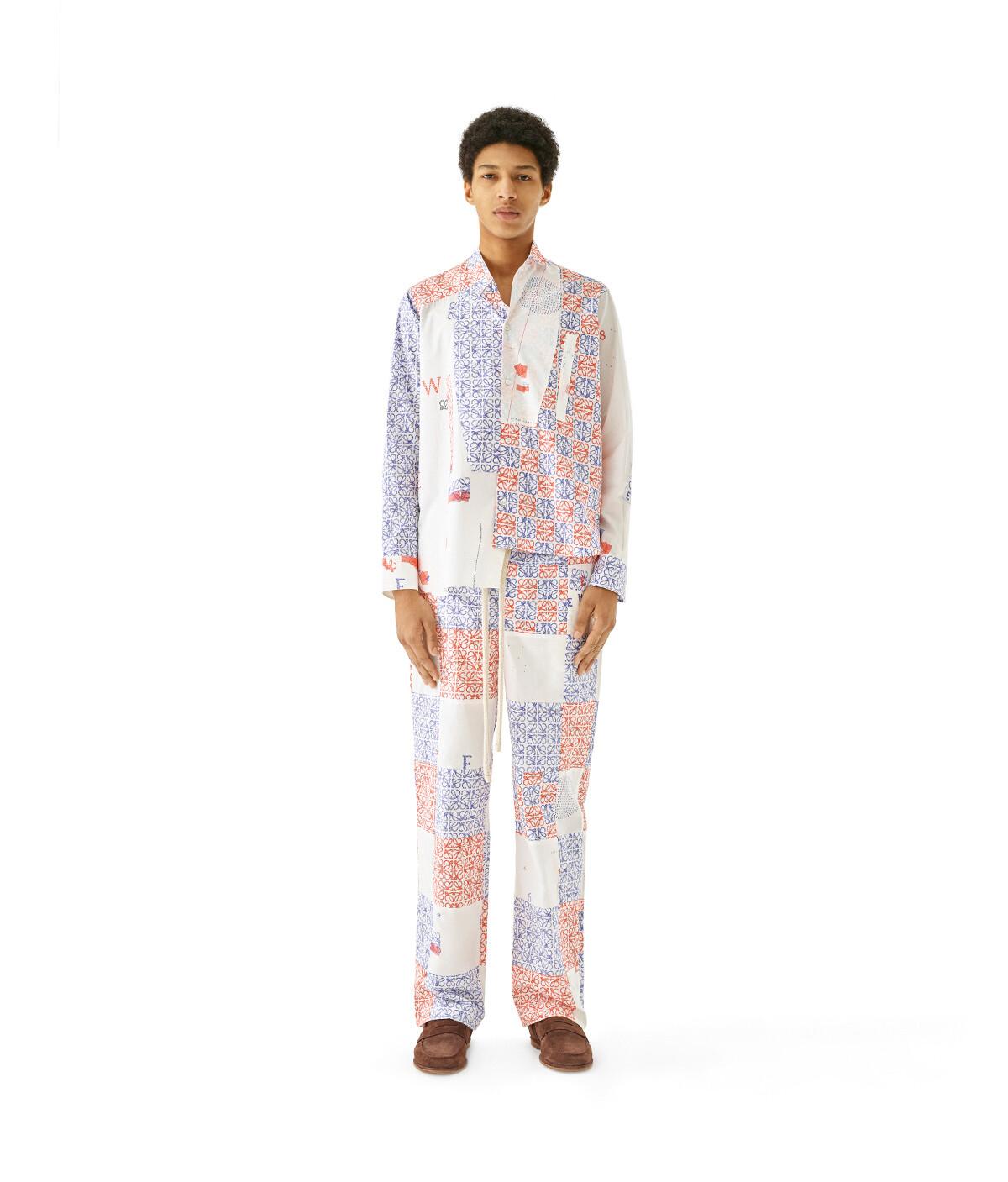 LOEWE Anagram Asymmetric Shirt Multicolor front
