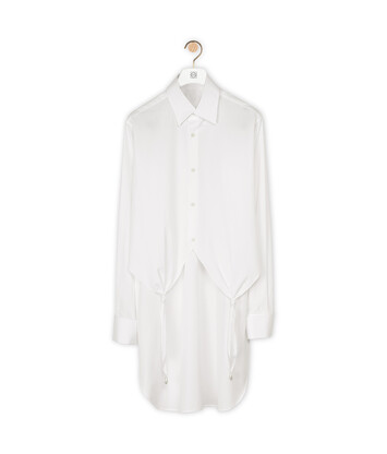 LOEWE Knotted Shirt Pearls ホワイト front
