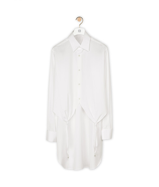 LOEWE Knotted Shirt Pearls White front