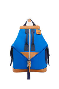 LOEWE Convertible backpack in canvas Electric Blue/Navy Blue pdp_rd