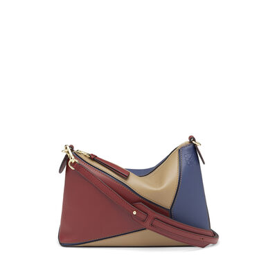 LOEWE Puzzle Pochette Bag Brick Red/Almond front