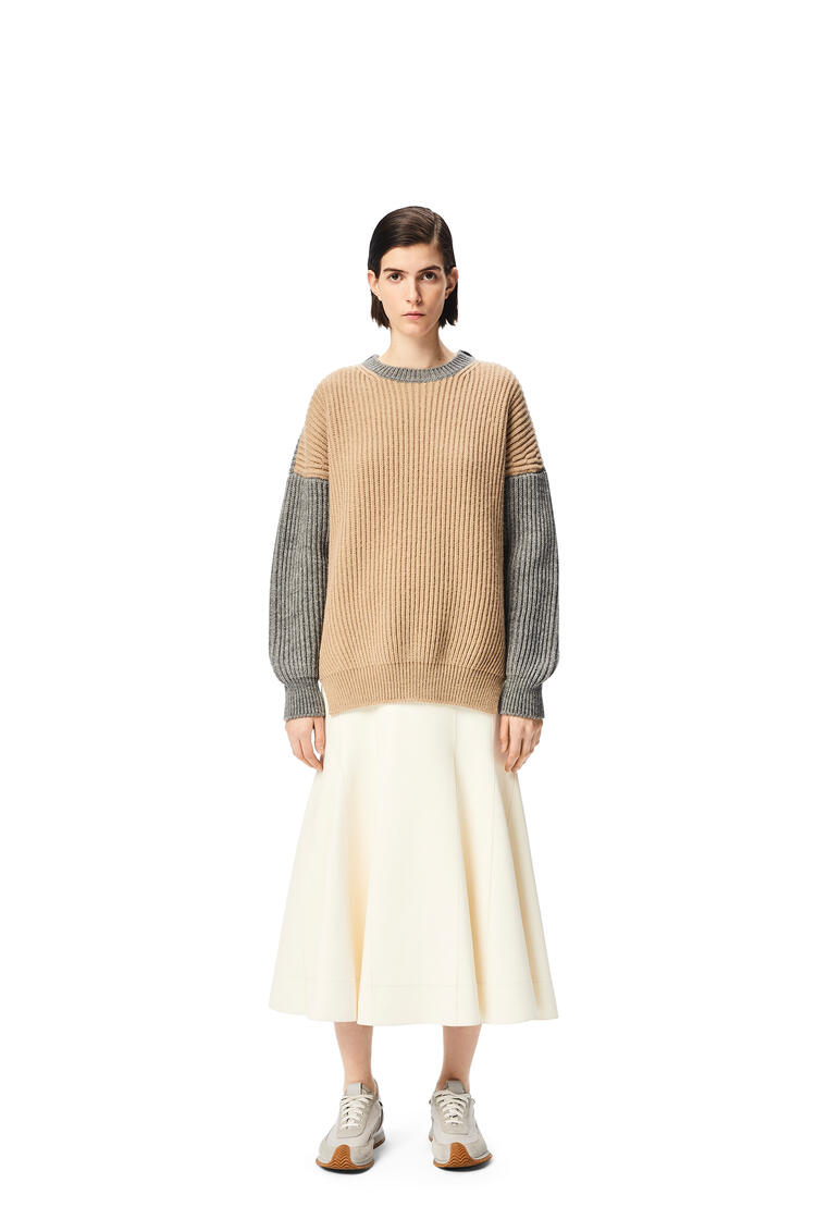 LOEWE Godet skirt in nappa White pdp_rd