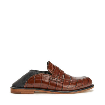 LOEWE Slip On Loafer Marron/Negro front