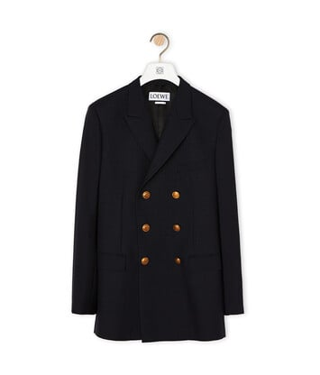 LOEWE Double Breasted Jacket 海军蓝 front