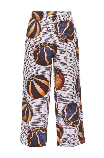 LOEWE Pyjama Trousers Urchins Multicolor/Blanco front