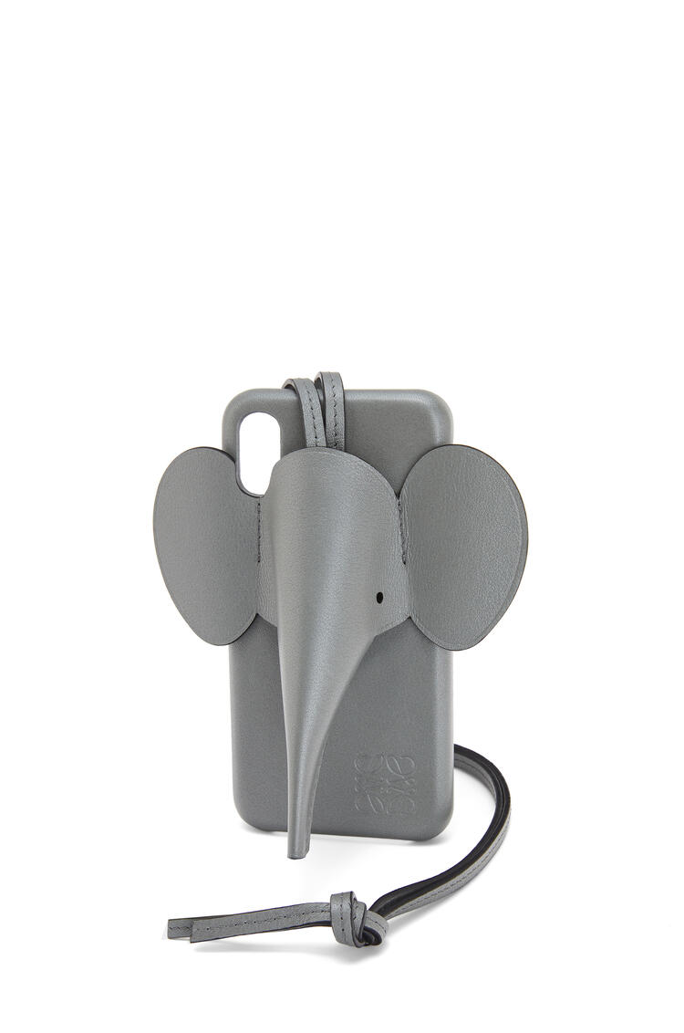 LOEWE Elephant Cover For Iphone X/Xs In Pearlized Calfskin Gunmetal pdp_rd