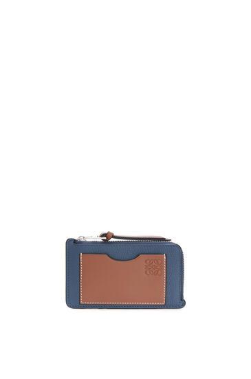 LOEWE 对比色硬币卡包 Steel Blue/Tan pdp_rd