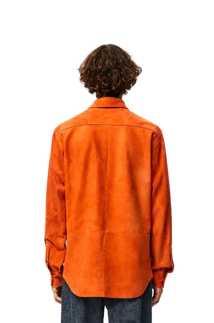 LOEWE Shirt in suede 橙色 pdp_rd