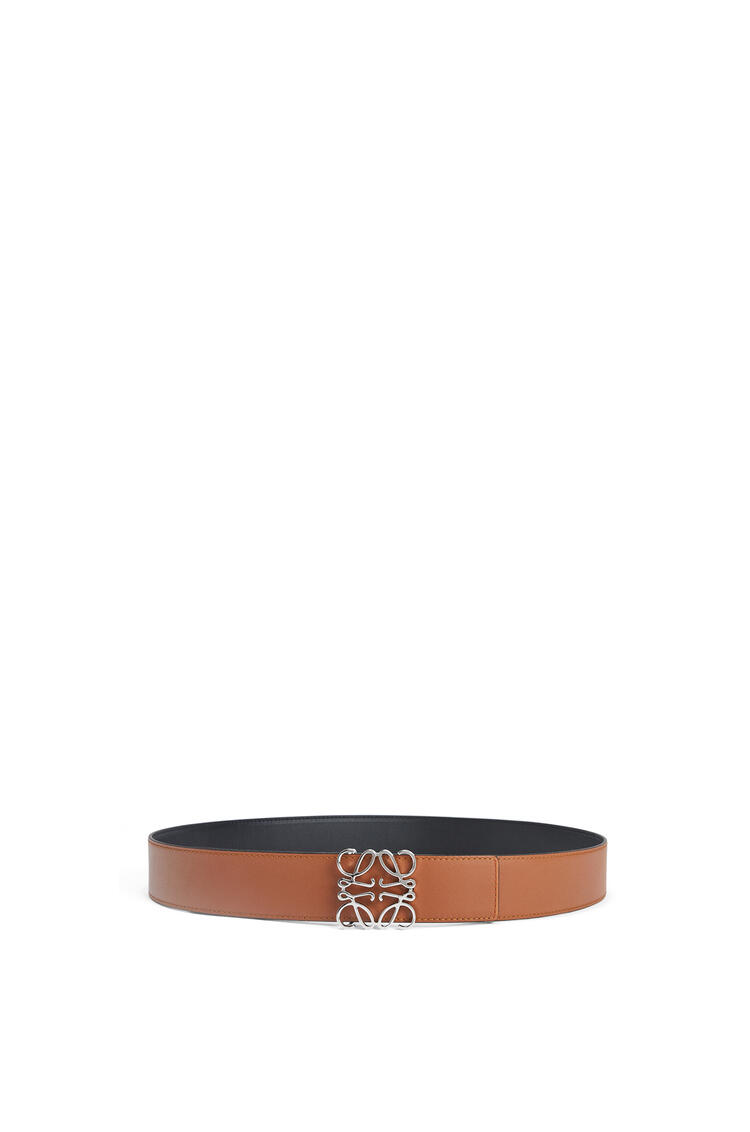LOEWE Anagram belt in smooth calfskin Black/Tan/Palladium pdp_rd