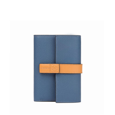 LOEWE Small Vertical Wallet Varsity Blue/Honey front