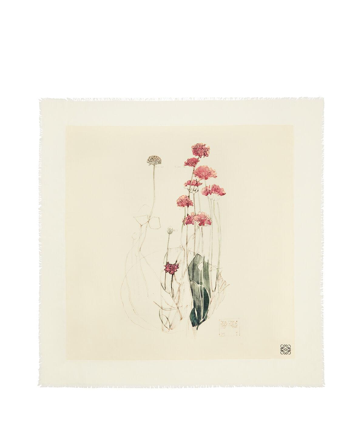 LOEWE 140X140 Scarf Botanical Rosa Claro/Natural all