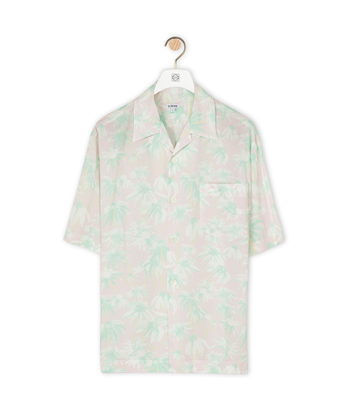 LOEWE Bowling Shirt Rosa/Verde Claro front