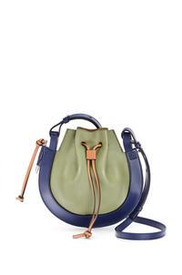 LOEWE Small Horseshoe bag in nappa and calfskin Avocado Green/Navy pdp_rd
