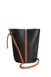 LOEWE 天然牛皮革 Anagram Gate Bucket 手袋 黑色/棕褐色 pdp_rd