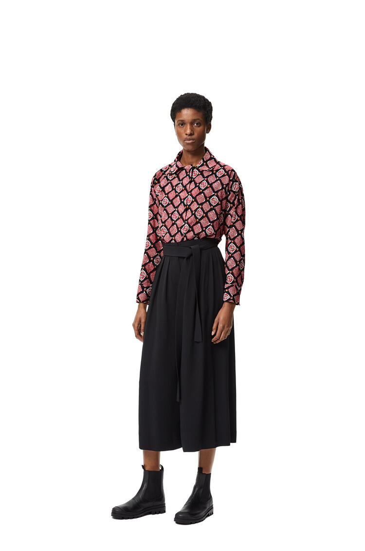 LOEWE Anagram pyjama blouse in printed cotton Black/Red/White pdp_rd