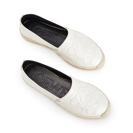 LOEWE Anagram Espadrille Soft White front