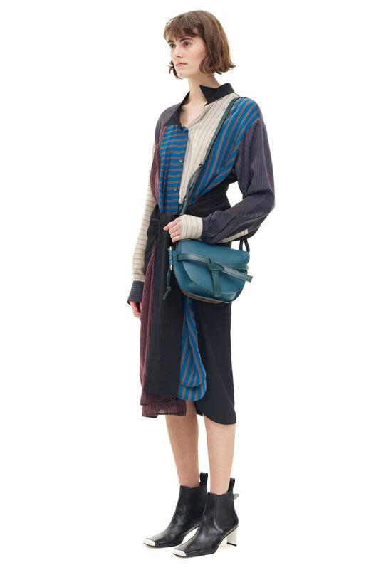 LOEWE Patchwork Stripe Shirtdress Multicolor all