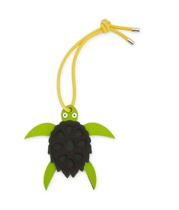 LOEWE Paula Turtle Charm Green/Black front