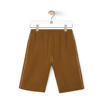 LOEWE Eln Fleece Shorts Camel front