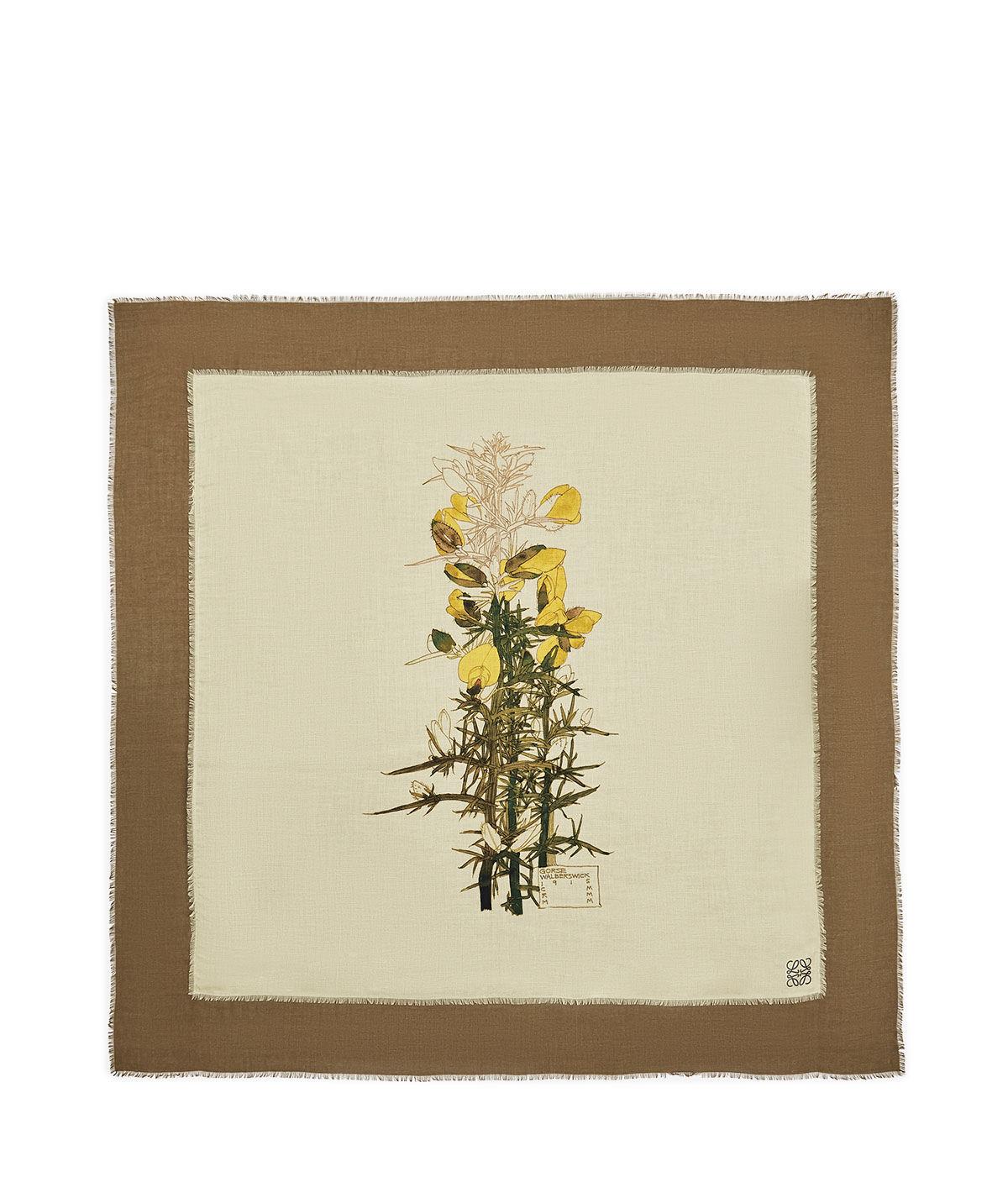 LOEWE 140X140 Scarf Botanical Amarillo/Beige all