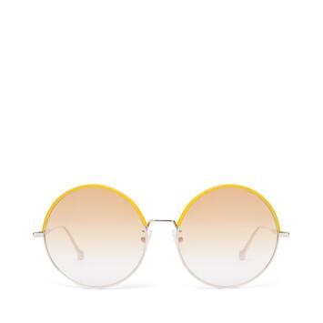LOEWE Round Sunglasses Yellow/Gradient Yellow front