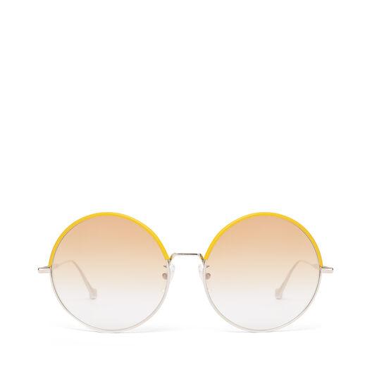 LOEWE ラウンドサングラス Yellow/Gradient Yellow front