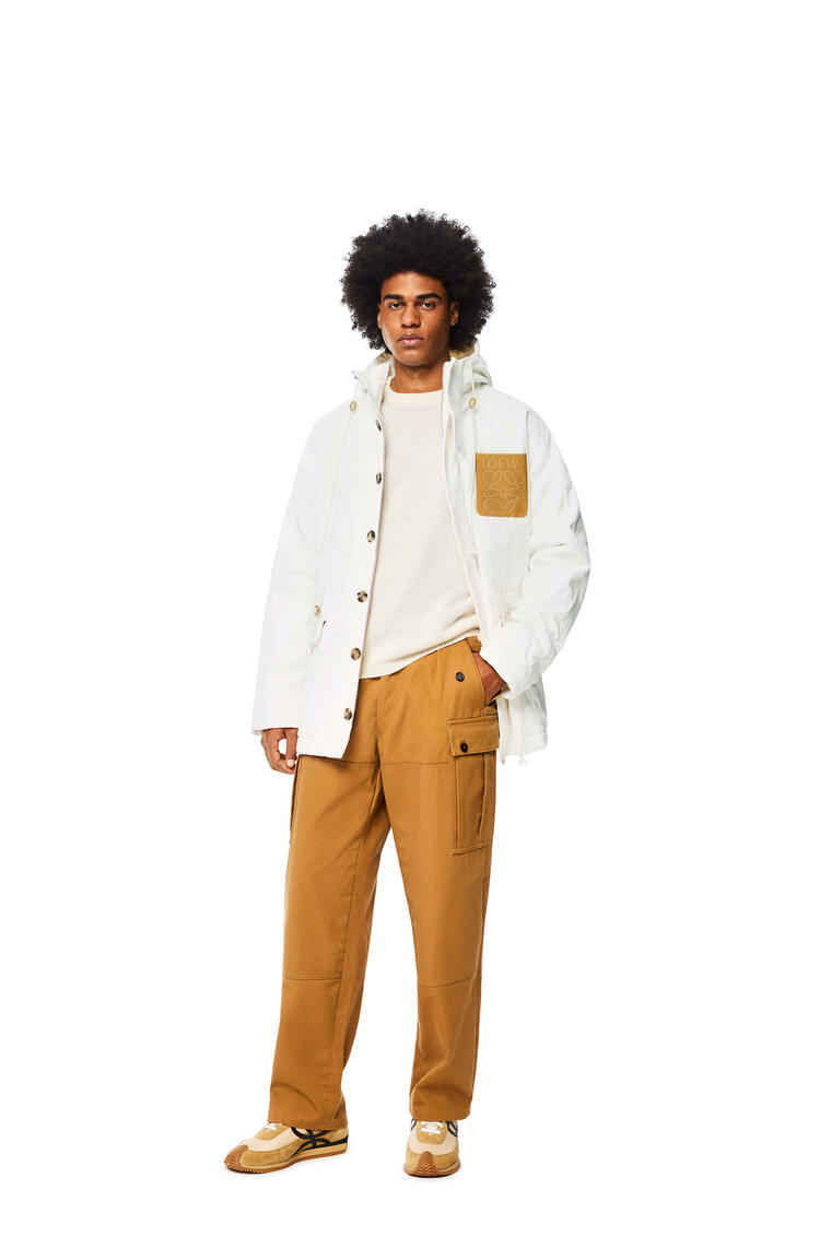 LOEWE Cargo pocket trousers in cotton Camel pdp_rd